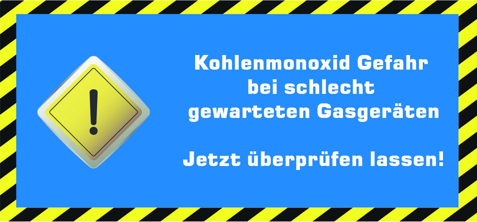 Gefahr durch Kohlenmonoxid
